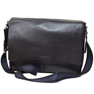 new coach s classic leather laptop messenger shoulder