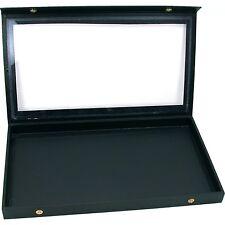 Black Display Case Necklace Bracelet Showcase Tray