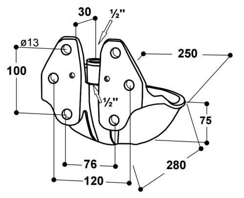 100.0250 25R mit 1//2 Mesing-Ventil für Rinder /& Pferde Suevia Tränkebecken Mod
