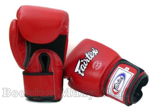 Fairtex Muay Thai Boxing Gloves BGV1 Breathable Red MMA K1 Training Sparring Air