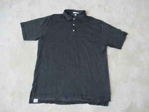 Peter-Millar-Golf-Polo-Shirt-Size-Adult-Extra-Large-Black-White-Cotton-Rugby-Men