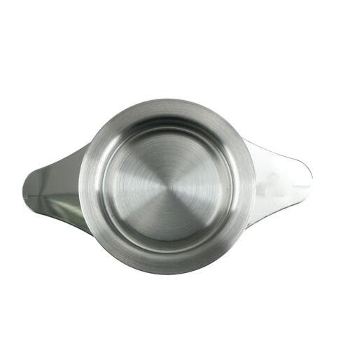 Edelstahl Tee Infuser Korb Mesh Teesieb Filter mit 2 Griffe Deckel  DI