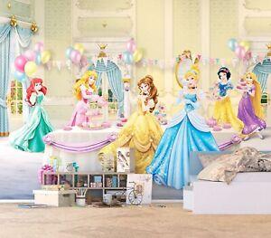 Dettagli su DISNEY murale parete Carta da parati per bambini Camera da  letto Principesse sala da ballo Premium marrone- mostra il titolo originale