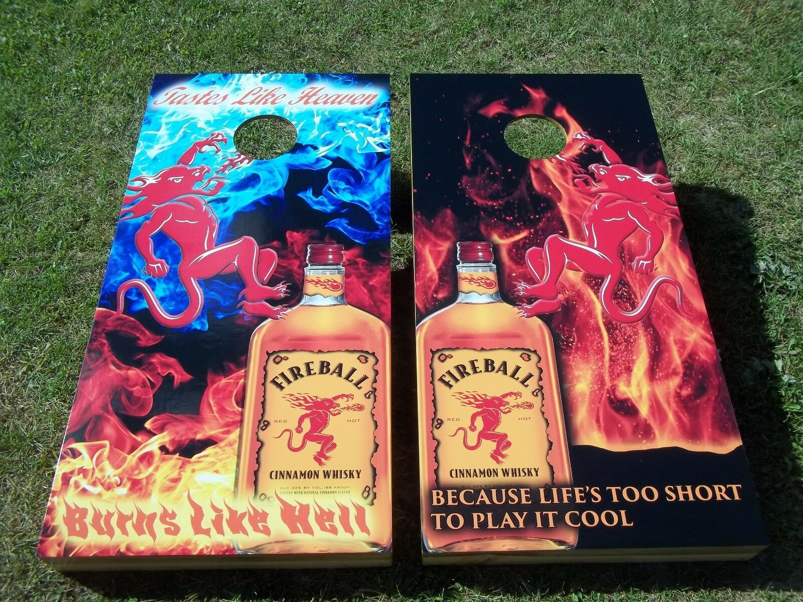 Fireball Corn Hole Boards - Bean Bag Toss Game