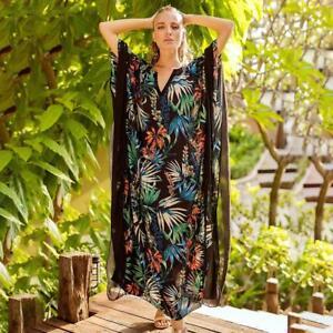 Women-Long-Boho-Maxi-Kaftan-Dress-Hippy-Tunic-Caftan-Dress-Night-Gown-BN-C6H0
