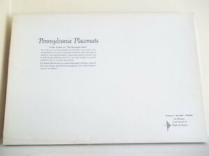VINTAGE-SET-OF-6-LARGE-COLOR-LAMINATED-PENNSYLVANIA-PLACEMATS-NEW-LIBERTY-BELL