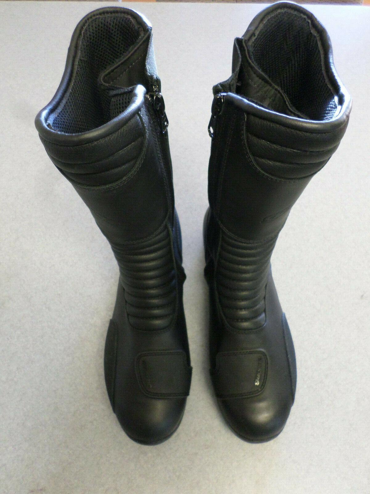 Gaerne de cuero negro, impermeable, Cremallera Lateral, Moto botas. para mujer 10 ()