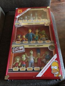 La famille Simpsons Njcroce Bendable Figurines Rare Mega Set / 1000 Made