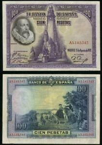 SPAIN 100 Pesetas, 1928, P-76, VF World Currency