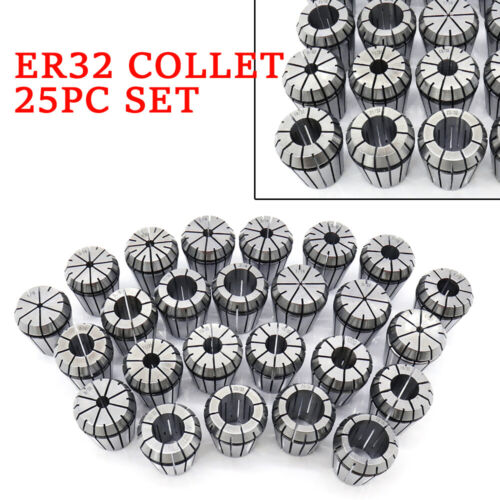 "ER32 Chucks Collet 25PC Set 1//16/""-3//4/"" 16th 32nd Balance 1//8/""-13//16/'/' Fast"