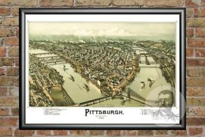 Vintage-Pittsburgh-PA-Map-1902-Historic-Pennsylvania-Art-Old-Industrial