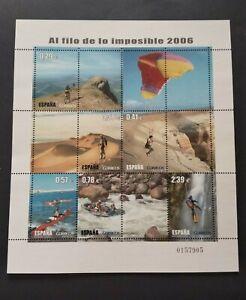 España año 2006 H .Deportes al Filo de lo Imposible Nº 4224 MNH