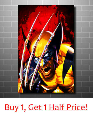 Wolverine Marvel Comics Canvas Wall Art Handmade Canvas Print Various Sizes Ebay