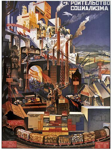 A2 Print Soviet Industrial Production Poster A3