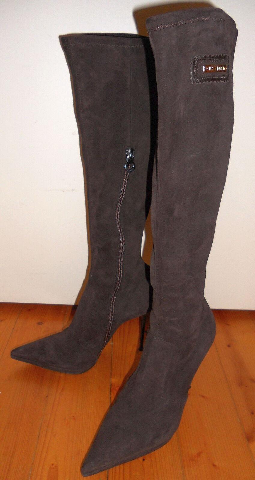 Originale le silla botas de gamuza tamaño 36 marrón