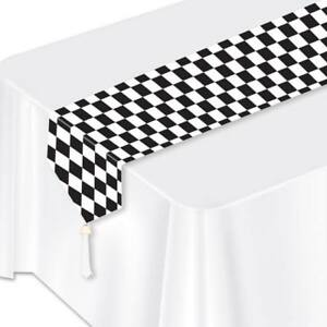 Black-Checker-Paper-Table-Runner-Car-Racing-Birthday-Party-Decorations