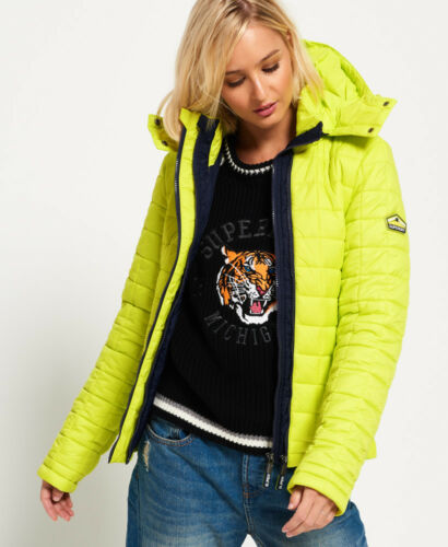 Giacca Code Box New Giallo Sport Fuji Quilt Hooded Womens Superdry OPwnSqxBAC