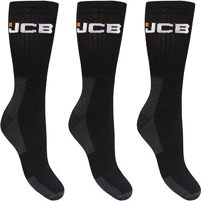 3 pairs Mens JCB Boot Socks Work Wear reinforced heel and toe