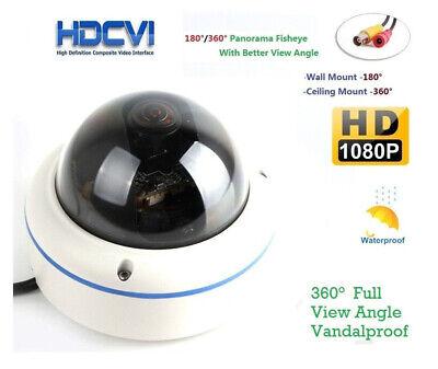 1080P HD Fisheye 180 Degree TVI CVI AHD Panoramic Wide Angle Mini Vandal camera