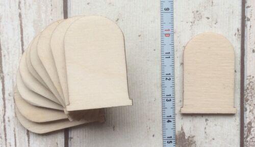 10 laser cut wooden mini tiny plain fairy faerie pixie elf doors unpainted