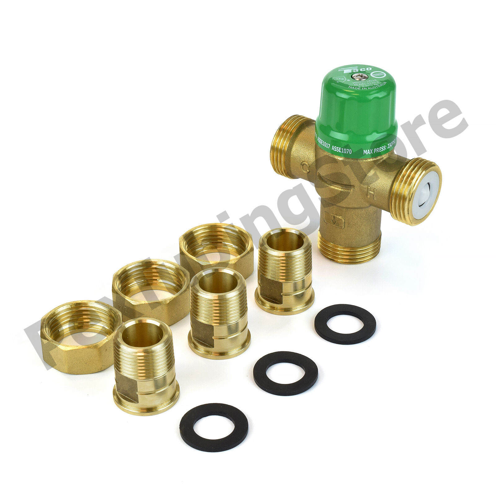 """3//4/"""" or 1/"""" in Sweat//NPT LEAD-FREE Taco 5000//5120 Thermostatic Mixing Valve 1//2/"""""""