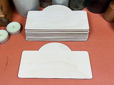 WOODEN DOMED SIGN SET Shapes 16.5cm (x10) laser cut wood crafts blank shape