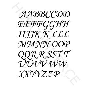 2x CAPS LETTER Vinyl Decal A to Z Stickers Kit Alphabet Glass Mug Craft Wall 012