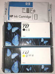 Lot-3-HP-727-Gray-Yellow-Magenta-B3P20A-B3P21A-B3P24A-Genuine-130ml-CHEAP