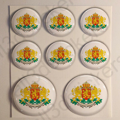 Sticker Bulgaria Resin Domed Stickers Bulgaria Coat of Arms 3D Vinyl Adhesive