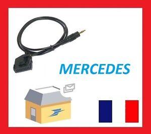cable auxiliaire aux adaptateur mp3 pour autoradio mercedes classe e sedan w211 ebay. Black Bedroom Furniture Sets. Home Design Ideas