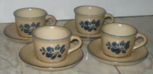 4-sets-Pfaltzgraff-USA-Folk-Art-Coffee-Cups-With-Saucers-001