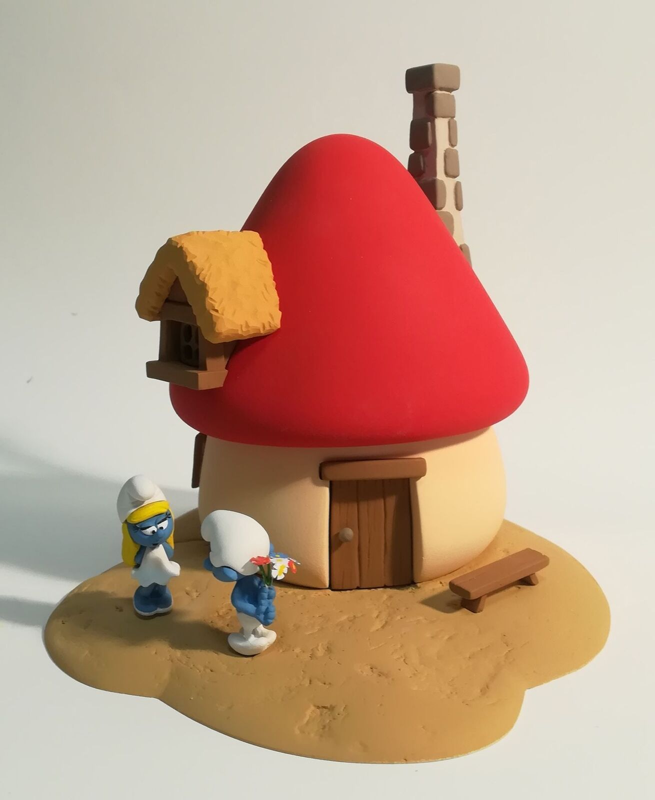 Statuette r;sina Schtrompfs (Les) La maison de la Schtrompfette Fariboli