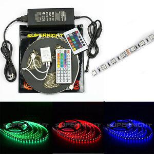 SUPERNIGHT-10M-5050-SMD-300-600Leds-RGB-LED-Strip-Tape-Light-IR-Remote-Power