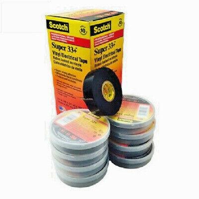Pack of 10 Rolls 3//4 x 44 ft Vinyl Electrical Tape Scotch Super 33