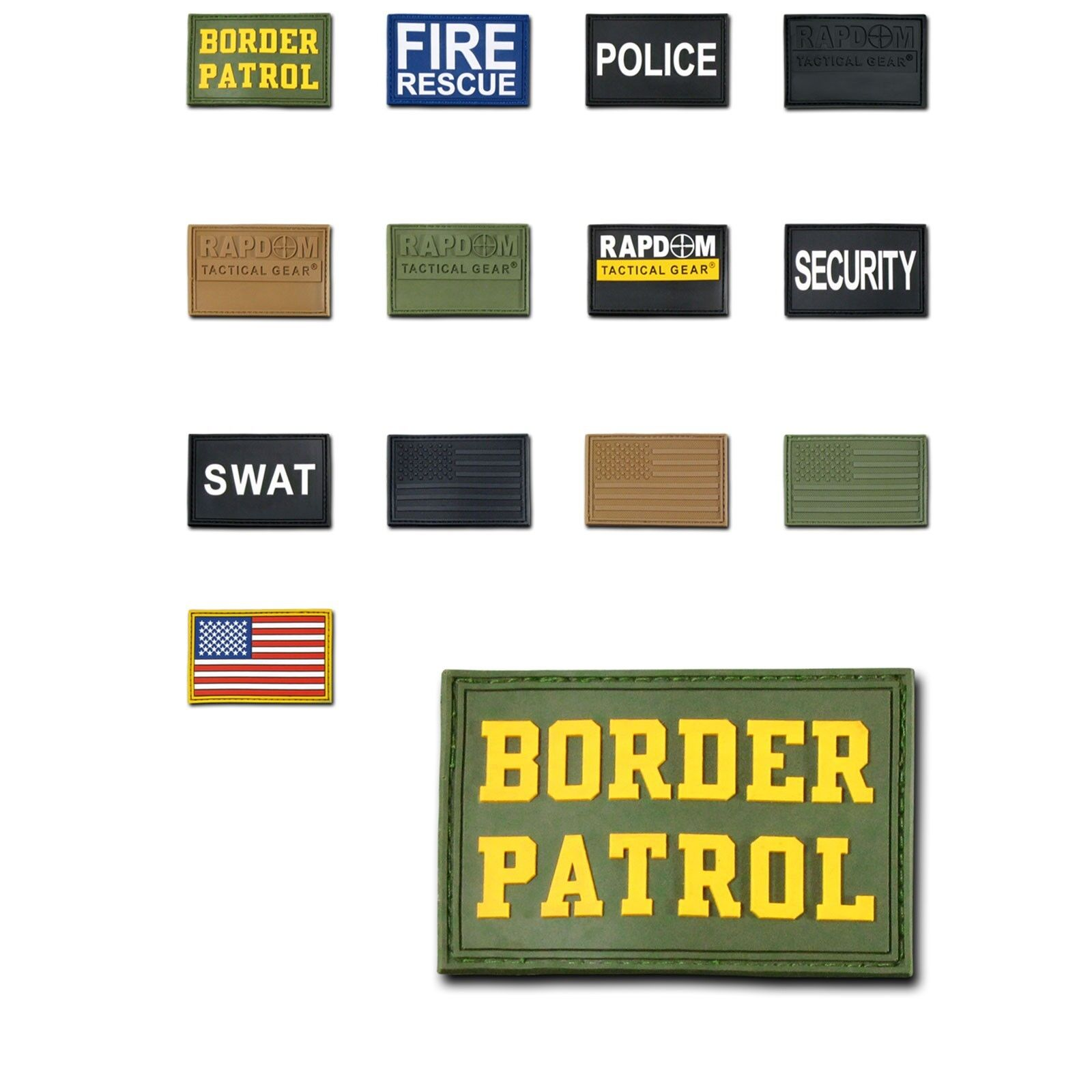 1 Dozen Tactical Operator Contractor 3x2 Rubber Patches Wholesale