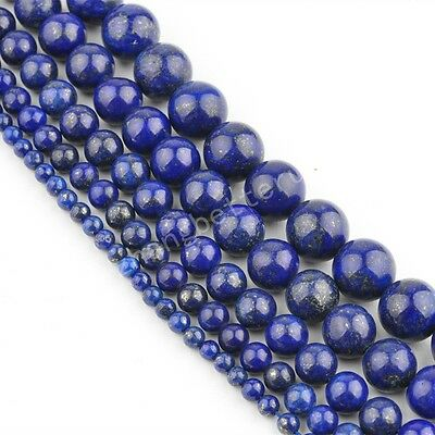 Natural Bead Gemstone Round Loose Spacer Beads 16'' Strand 4 6 8 10 12mm