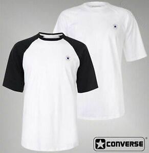 Mens-Branded-Converse-Stylish-Crew-Neck-Short-Sleeve-Raglan-T-Shirt-Size-S-XXL