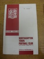 20/01/1968 Northampton Town v Swindon Town  (Faint Crease).  Thanks for taking t