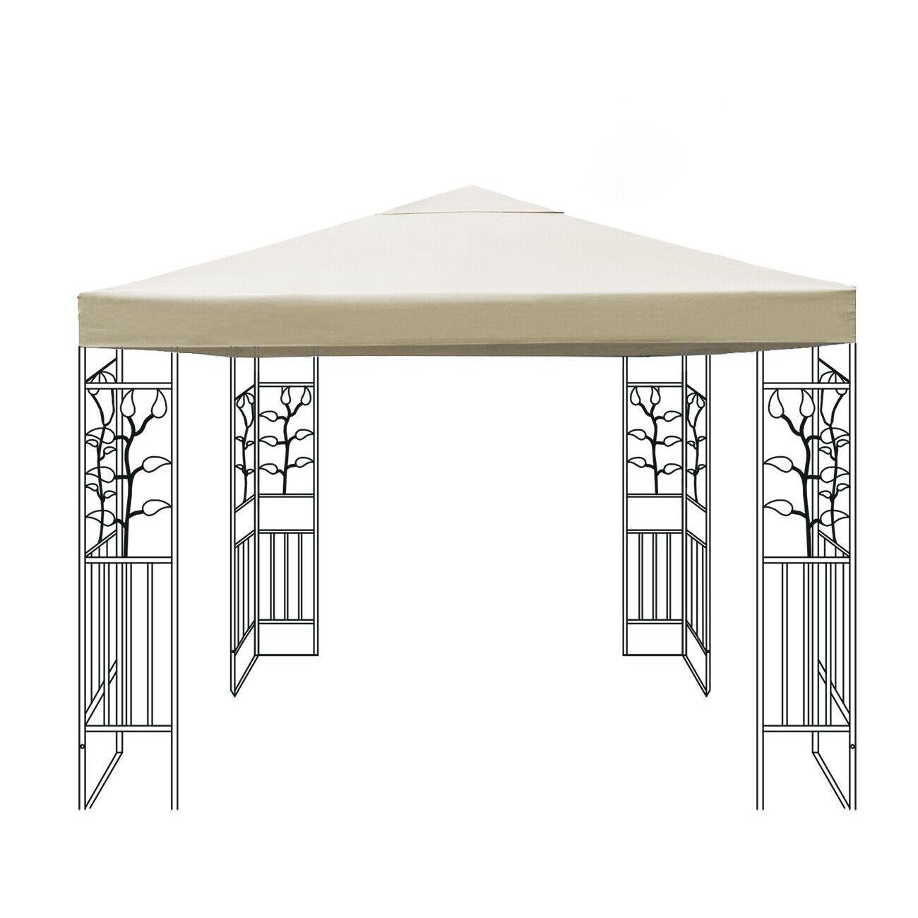 Cenador techo lona cubierta de repuesto sustituto plane Cochepa lona 3x3 beige impermeable