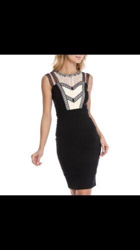 London Company noirecrèmeTaille Dress fourreau perlesdentelle 8Nwt Robe en 5055644925009 cl1KTFJ3