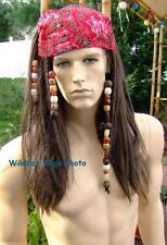 PIRATE Jack Sparrow Wig - Dreadlocks, Beads,   NICE! *