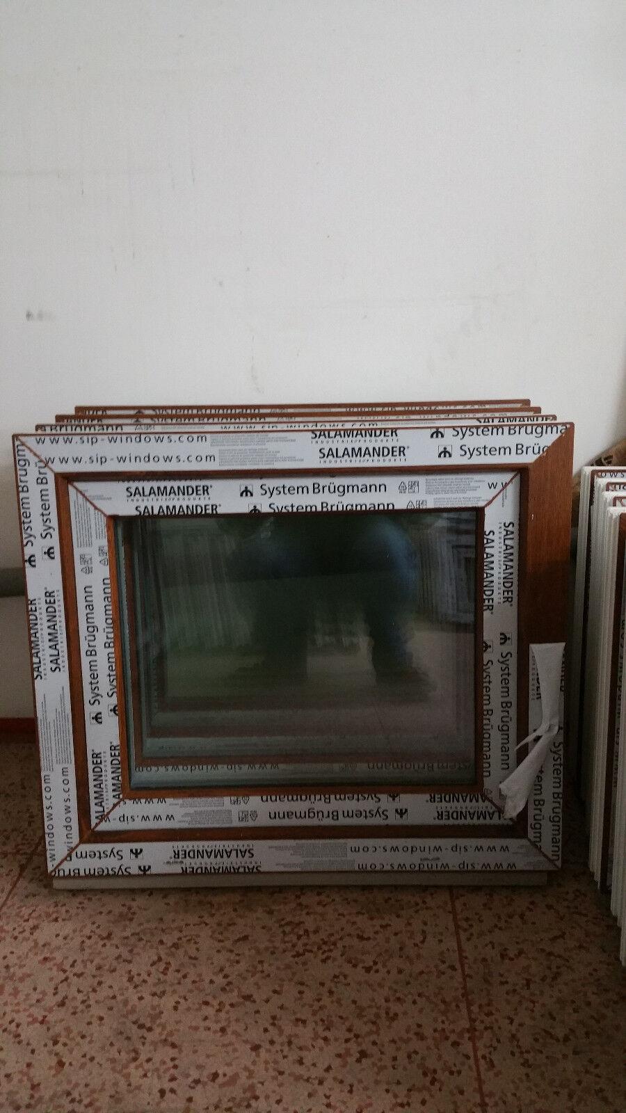 Kunststofffenster Salamander 70x50 cm (b x h), Eiche Gold, 1-flügelig