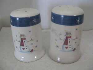 Snowman Salt Pepper Shakers Gift Idea Ebay