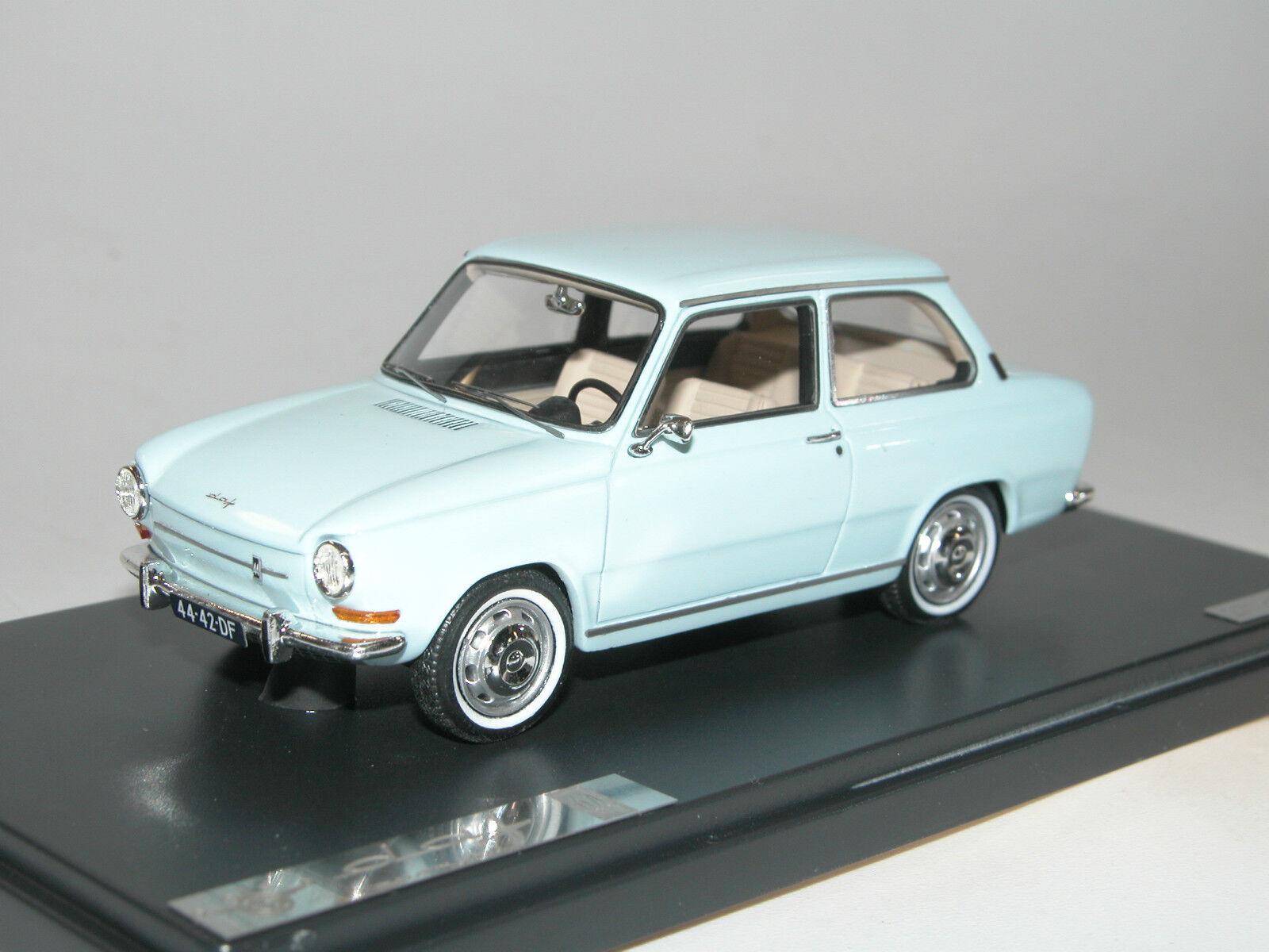Matrix skala modellllerler MX30401 -042 - 1966 DAF 44 Variomatiska - hellblå - 1  43