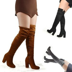 Womens-Over-The-Knee-High-Block-Heel-Ladies-Long-Cut-Out-Thigh-High-Boots-3-8