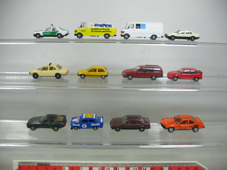 Aj390-0, 5  12x HERPA h0 voiture fourgon-Modèle  MERCEDES MB  BMW  OPEL  porsche etc