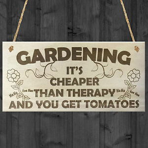 Nice Image Is Loading Gardening It 039 S Cheaper Than Therapy Novelty