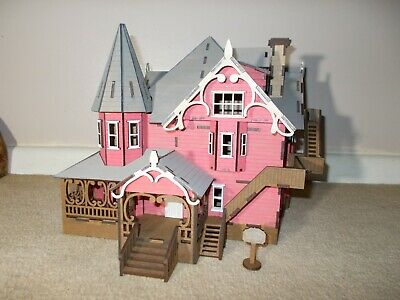 Laser Cut Wooden Pink Palace Coraline Model House Kit Ebay