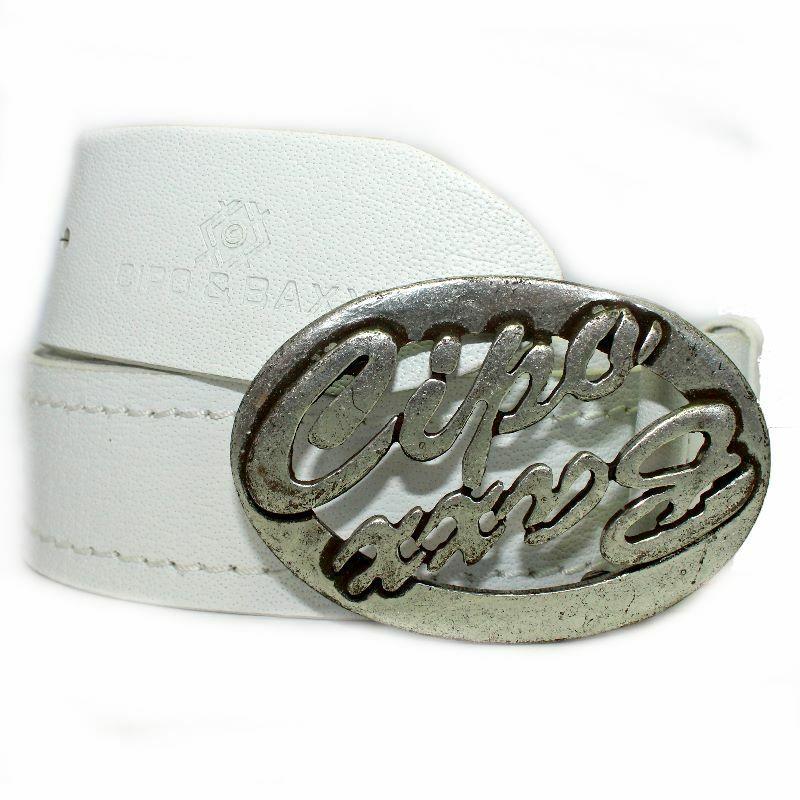 Cipo & Baxx Gürtel 100% Leder mit Schnalle Belt New