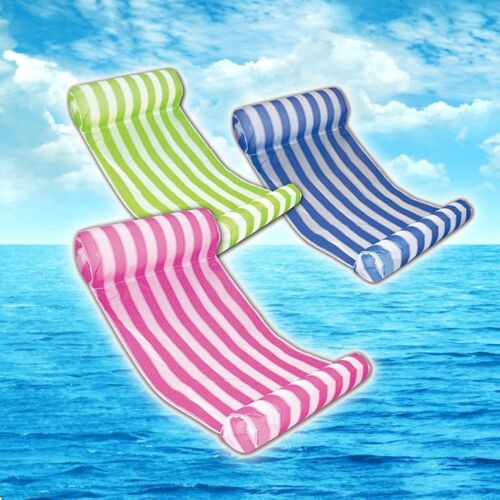 Portable Pool Floating Inflatable Mat Bed Swimming Beach Raft Lounge Pad Air Mat